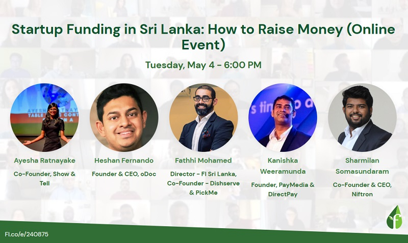 Want to raise money as a Sri Lankan Startup? Learn how at Founder  Institute's upcoming event | Colombo Gazette